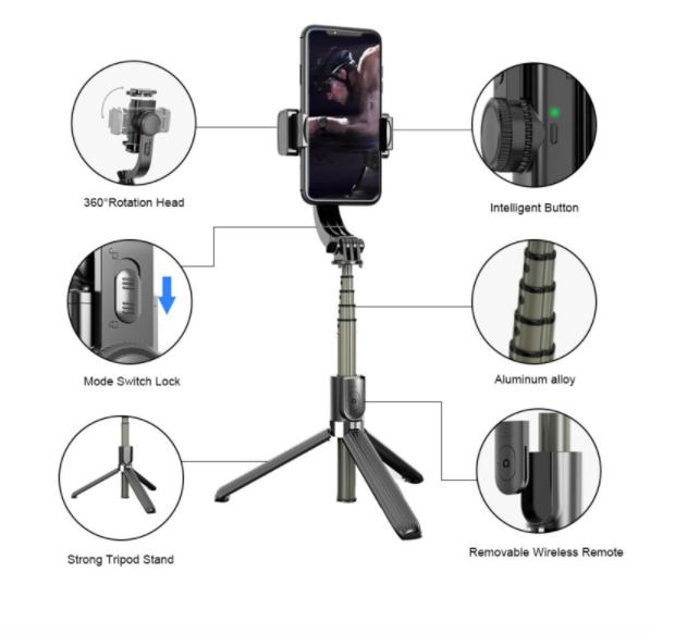 Palo Selfie Anti-Vibración + Remote Bluetooth  SPD075