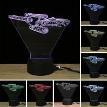 Lampara Holograma 3D Nave VAR060J