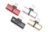 Adaptador Metálico de Audio + Carga para iPhone 7/8/X AD101