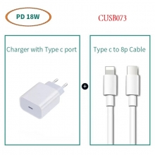 18W Power Adapter USB-C to Lightning Cable CUSB073