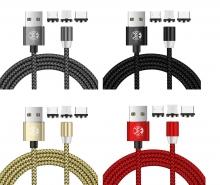 Cable Magnético 3 en 1 Ligthning / Micro USB / Tipo C CAB097