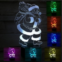 Lampara Holograma 3D Papa Noel VAR060Q