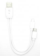Cable USB 2 en 1 Datos + Carga iPhone/Tipo C CAB144