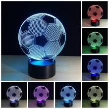 Lampara Holograma 3D Balon de Futbol VAR060V