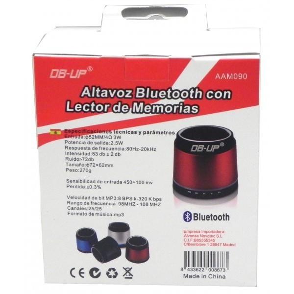 Altavoz Portable Aux/Bluetooth/Micrófono/MicroSD/USB/Auricular AAM090