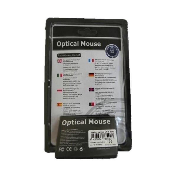 Ratón Óptico USB 2022 800dpi RCU019