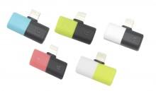 Adaptador de Silicona de Audio + Carga para iPhone 7/8/X AD100