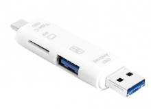 Adaptador OTG 3 en 1 Tipo-C / Micro USB / USB AD095