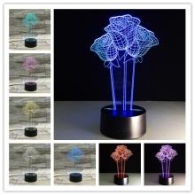 Lampara Holograma 3D Rosas VAR060F