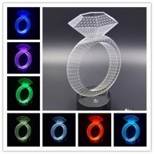 Lampara Holograma 3D Diamante VAR060E