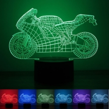 Lampara Holograma 3D Moto VAR060O