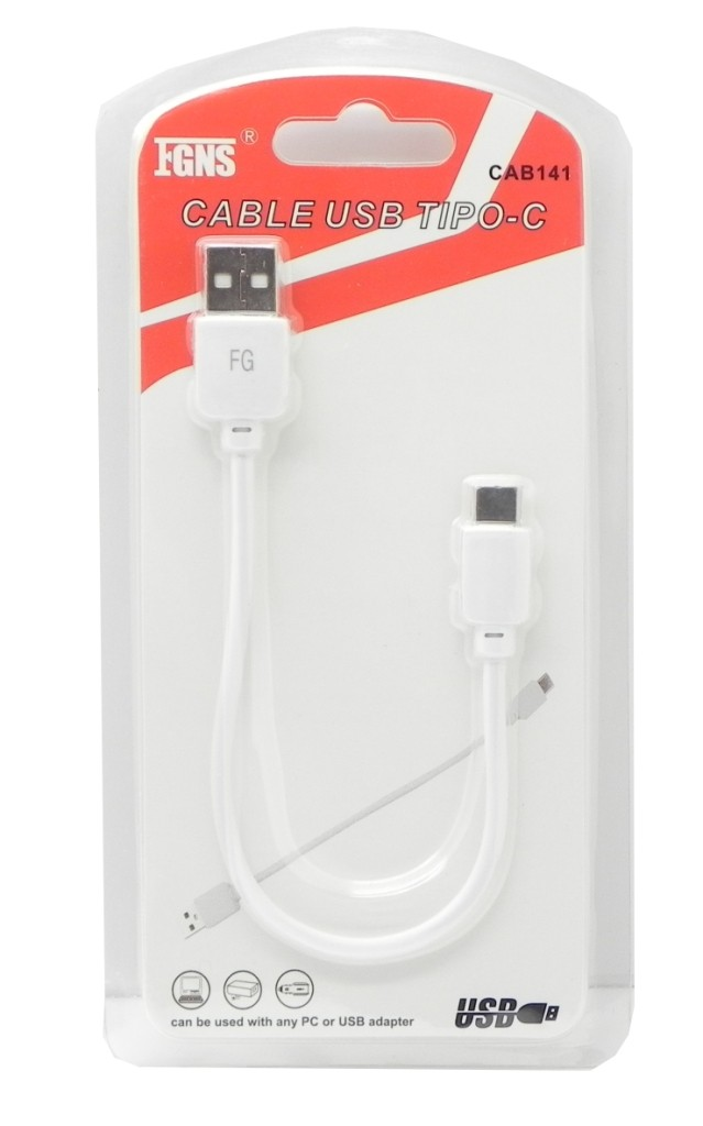 Cable USB Datos + Carga Tipo C CAB141