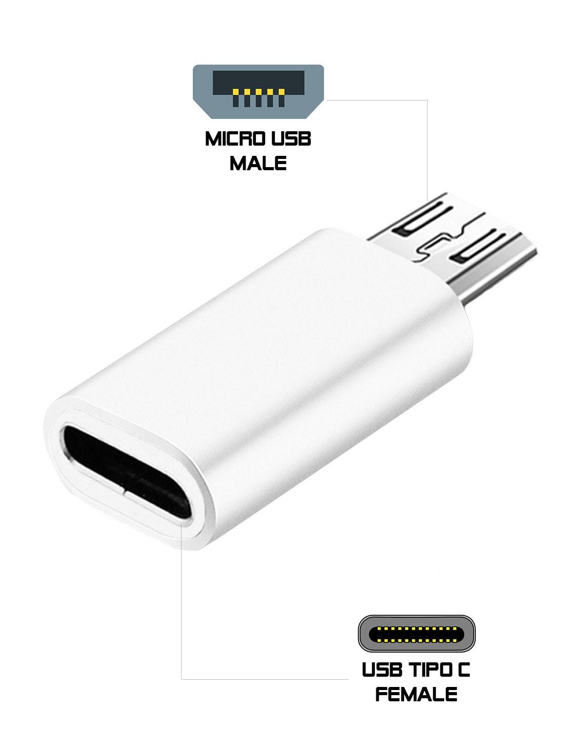 Adaptador Tipo-C Hembra a Micro-USB Macho AD107