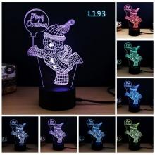 Lampara Holograma 3D Muñeco Nieve VAR060B