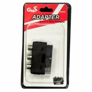 Adaptador RCA Hembra Triple/Euroconector Macho (12und) AD046