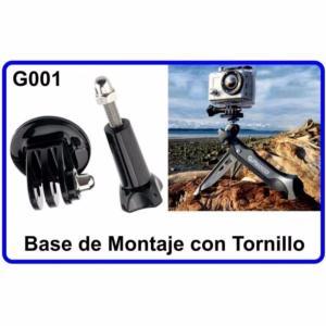 Base de Montaje + Tornillo para Cámara Deportiva G001