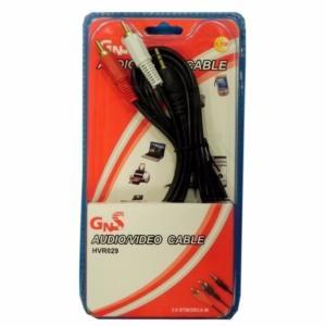 Cable Jack 3,5mm/RCA x2Macho 1,5metros HVR029